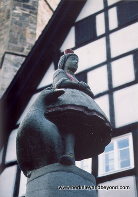 Fairy Tale Road-Alsfeld-Little Red Riding Hood statue-scan-400pix(cCaroleTerwilligerMeyers)