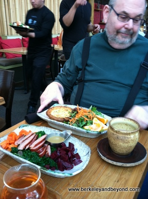 SF-Samovar-Jeff with Quiche and Paleolithic Service-c2011 Carole Terwilliger Meyers-12-11-400pix