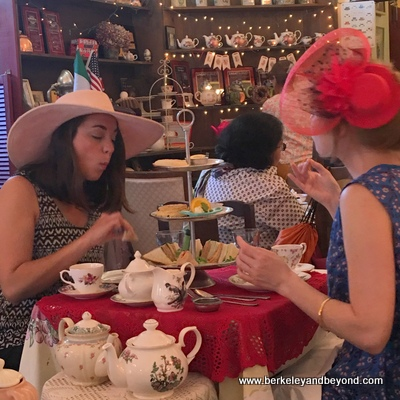 SF-Noe Valley-Lovejoy's Tea Room-two ladies in hats 2-c2016 Carole Terwilliger Meyers-fnl-400pix
