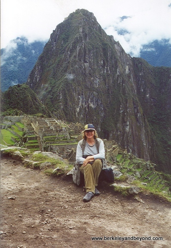 Peru-Carole at Machu Picchu-scan-500pix