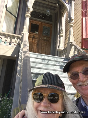 CALIFORNIA-SF-Haight-Ashbury-Grateful Dead house-selfie-Carole+Gene-c2017 Carole Terwilliger Meyers-400pix