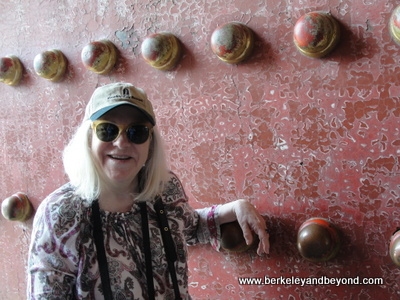 CHINA-BEIJING-Forbidden City-Carole at entrance-door-c2015 Gene Meyers-400pix