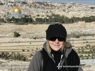 ISRAEL-Jerusalem-Mount of Oives-overlooking Dome of The Rock-ME-400pix