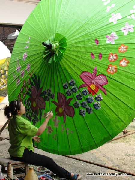Borsang Village-Umbrella Making Centre-Big Green2-c2010 Carole Terwilliger Meyers-600pix