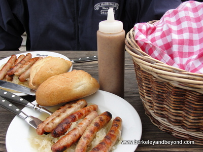 Regensburg-Historic Sausage Kitchen-sausage close up-c2010 Carole Terwilliger Meyers-400pix